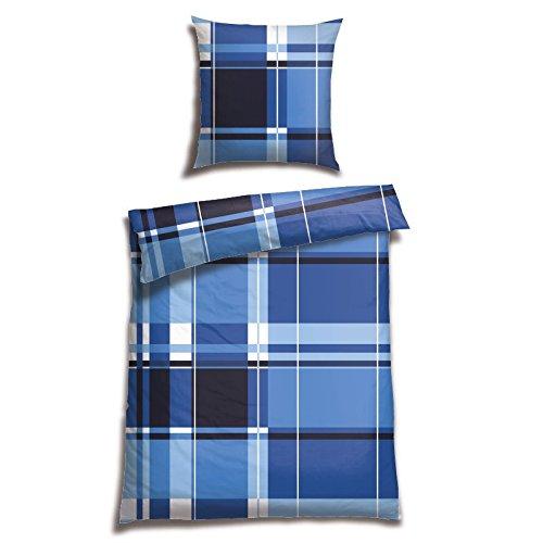 Schiesser Renforcé Bettwäsche Plemu Royalblau / 100% Baumwolle/in Verschiedenen Größen erhältlich, Webart:Renforcé, Größe:155 cm x 220 cm, Farbe:royal blau