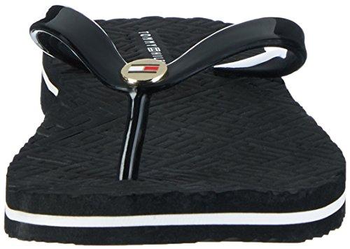 Tommy Hilfiger M1285ellie 8r, Sandales Bout Ouvert Femme Noir (Black 990)