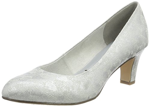 Tamaris Damen 22418 Pumps, Silber, 39 EU