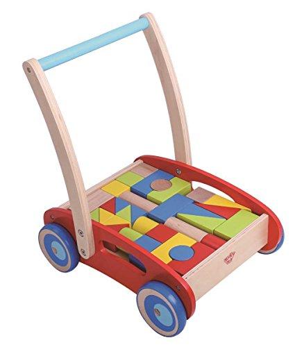 tooky Toy tkc281–Girello con dei blocchi in legno