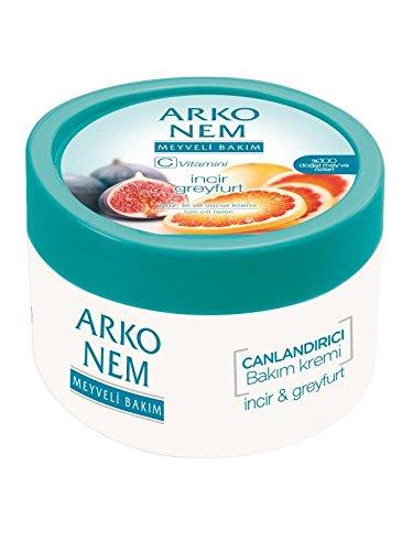 Arko Nem Hand und Körper Creme 300ml Feige Grapefruit Duft Gesichtscreme Tagespflege Feuchtigkeitscreme Vitamin C