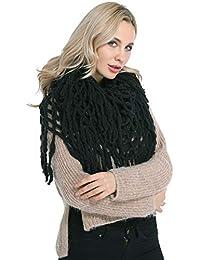 9bd25c778559 Echarpe Chaude Femme Hiver Tissée Portage Vintage Grande Chale au Crochet  Laine Tricotée Oversize Mode Foulard