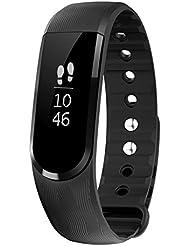 Fitness-armband, LETSCOM Aktivitätstracker Fitness Tracker Smart Aktivitätstracker Fitnessband Smart Schrittzähler Fitness armband für Android / iOS Smartphone, Bluetooth 4.0 IP67 wasserdichte Armband