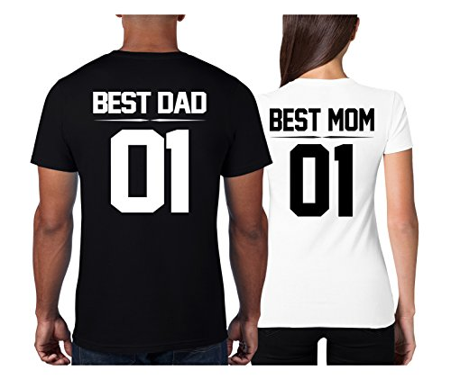Cold & Heartless Partner Look Pärchen T-Shirt Set Mom Dad T-Shirts als Geschenk (Damen Gr. S + Herren Gr. M)