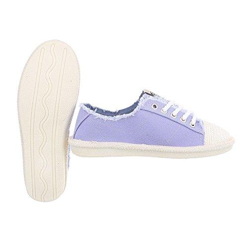 Ital-Design Scarpe da Donna Sneaker Piatto Sneakers Low viola D-39