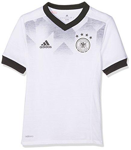 Adidas DFB H Preshi Y Camiseta Selección Alemana de Fútbol, niños, Blanco/Negro, 164