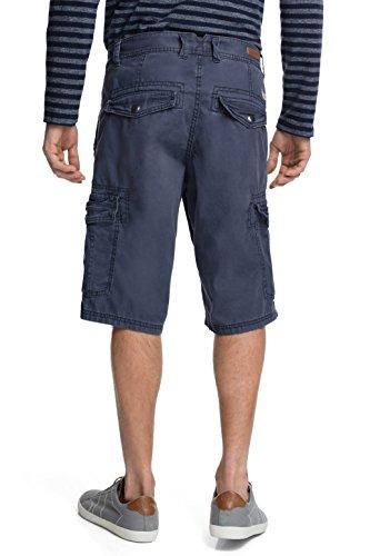 edc by ESPRIT Herren Shorts im Cargo Stil Blau (DARK WASHED BLUE 447)