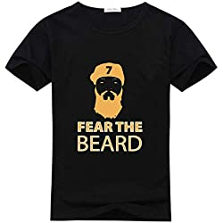 Lu JinQuan Mens T-Shirt Milwaukee Thames Beard Short Sleeve Size M