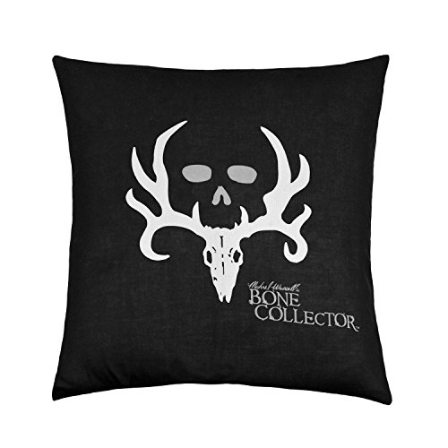 B Lyster shop Bone Collector Black J225 Cotton & Polyester Soft Zippered Cushion Throw Case Pillow Case Cover (Bone Collector Kissenbezüge)