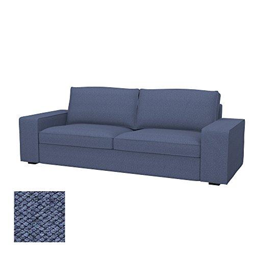 Soferia - IKEA KIVIK Funda para sofá de 3 plazas, Nordic Denim