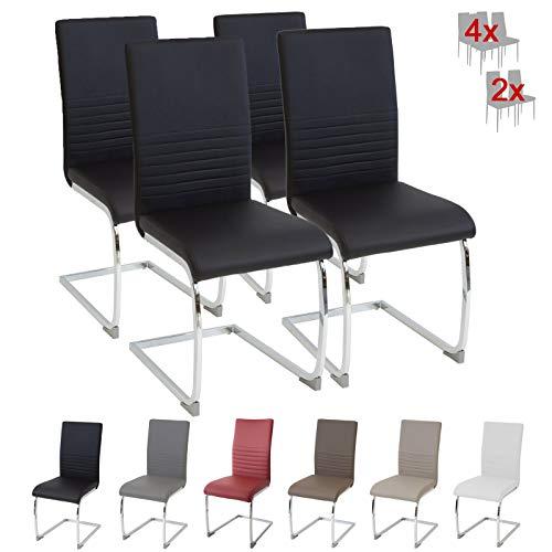 Albatros Esszimmerstühle, Schwarz, 4er-Set