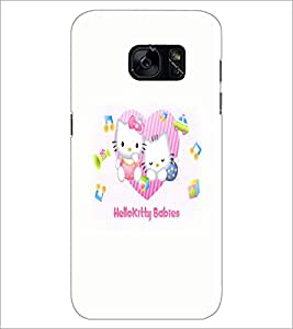 PrintDhaba Kitty babies D-5521 Back Case Cover for SAMSUNG GALAXY S7 (Multi-Coloured)