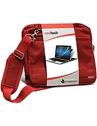 Navitech Rouge élégant sac imperméable résistant à l'eau sac de transport sac pour le Macbook Pro 2016 13 inch