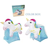 DAYPICKER Brazaletes Inflables Infantiles Unicornio para Niños, Mangas de flotación Flotadores Tubo Alas de Agua Natación Brazo flotadores Unicornio