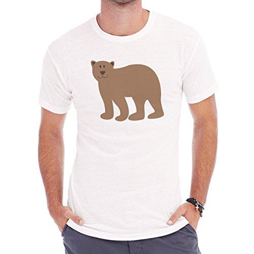 Yogi Bear Cartoon Animal Light Brown Herren T-Shirt Weiß