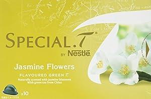 SPECIAL.T by Nestlé Thé Vert Parfumé au Jasmin Jasmine Flowers 10 capsules - Lot de 4