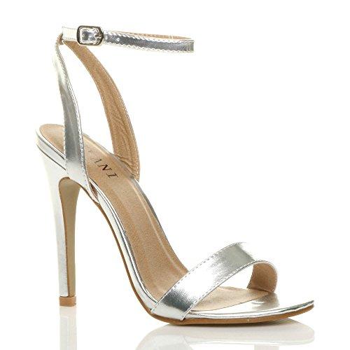Ajvani donna alto tacco partito fibbia con cinturino sandali scarpe numero 3 36