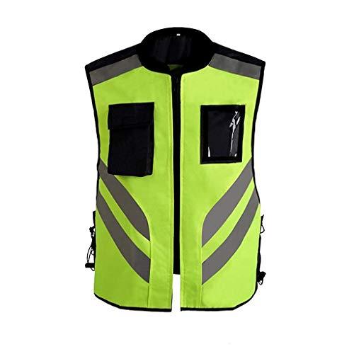 SONGDP Reflektierende Westen Reflektierende Weste Multi-Pocket Straßenbau Sicherheit Schutzweste Verkehr Hohe Sichtbarkeit Größe Optionale reflektierende Westen Reflektorbänder (größe : XL)