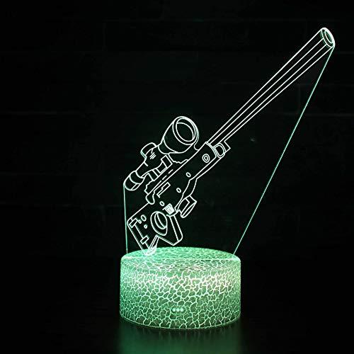 Night Lights Video Illusion Lampe Spiel Geburtstagskampf Festival Geschenk Schlafzimmer Dekoration Spielzeug 3d Festung Nacht Fallschirmspringen Bunten Tischlampe Kreativer Geschenkflecken E (Valentine-video-spiel)