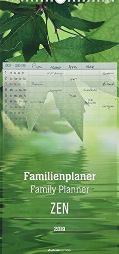 Familienplaner ZEN 2019: 5 Spalten