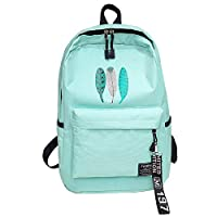 SEFROMAS Laptop Backpack, Travel Computer Bag for Mens & Women, Large College School Bookbag with USB Charging Port Anti Theft Water Resistant Durable Backpack (Mint Green)