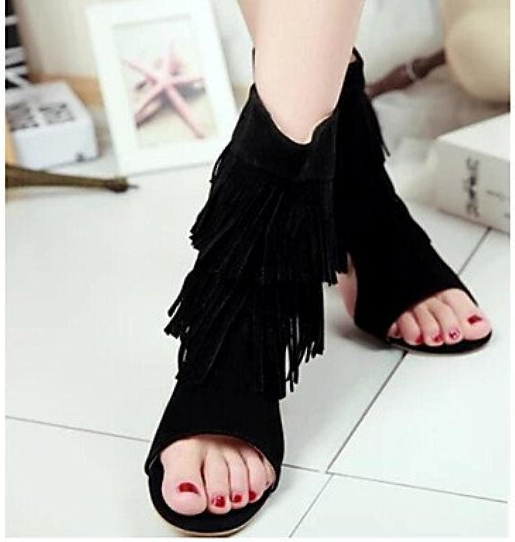 Las mujeres 039 s sandalias verano PU Confort confort informal Ruby amarillo gris negro 1A-1 3 4 UK3.5 inBlackUS5.5...
