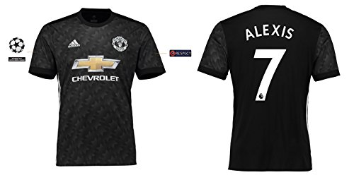 Trikot Kinder Manchester United 2017-2018 Away UCL - Alexis 7 (176) (Arsenal Fc-patch)