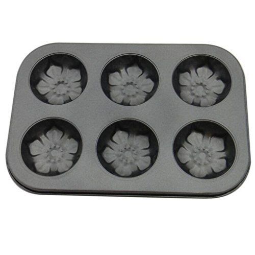 iTemer Blumen Form Edelstahl Kuchen Schimmel Küchenwerkzeuge 1 Stück (Blumen Schimmel Schokolade)