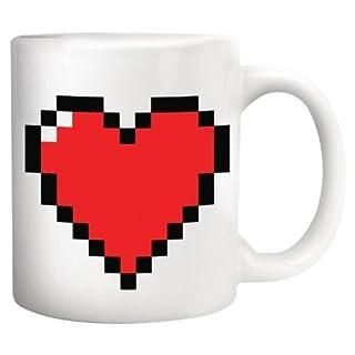 Kikkerland Pixel Heart Morphing Tasse, Garten, Rasen, Instandhaltung