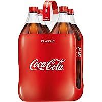 Coca-Cola Classic/Pure Erfrischung mit unverwechselbarem Cola Geschmack in stylischem Kultdesign / 4 x 1,5 Liter Einweg Flasche