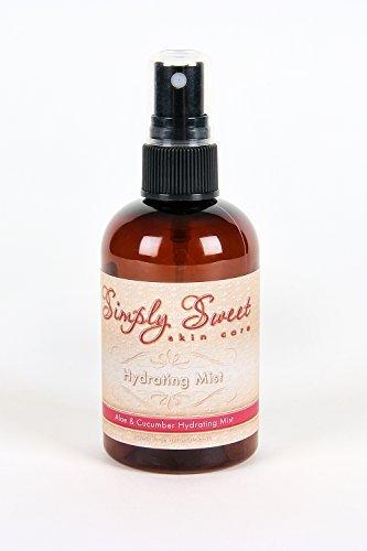 Facial Spritz (HYDRATING SPRAY *Choose your Size* Mineral Makeup Setting Mist Vegan Facial Moisturizer Spritz (4 oz. Mist) by Sweet Face Minerals)