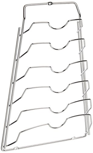 Organize It All Cabinet Door Lid Rack, Chrome Finish