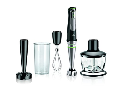 Braun MultiQuick 9 MQ 9037X Stabmixer, 1.000 W, Zerkleinerer (500 ml), Kartoffel-/ Gemüsestampfer, EasyClick System Plus, ACTIVEBlade Technologie