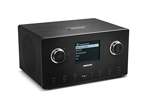 Radio-airplay (Medion P85096 MD 87516 WLAN Internet-Radio mit 2.1 Sound-System (DAB+, UKW, Bluetooth, USB, Spotify, AirPlay, Multiroom, AUX) schwarz)