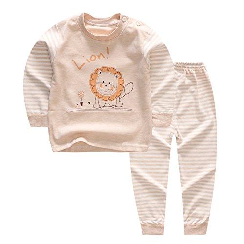 100% Baumwolle Baby Jungen Mädchen Pyjamas Set Langarm Nachtwäsche (6M-5Jahre) (Tag50 (6-12 Monate), Muster 1) (Bio-baby-nachtwäsche)