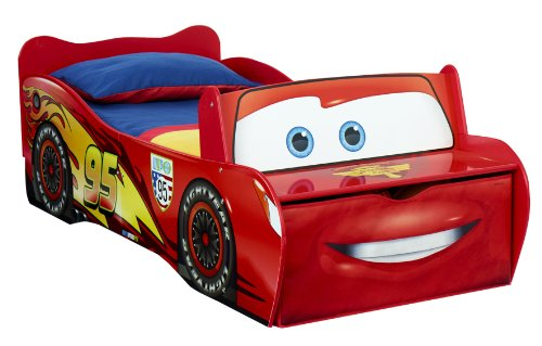 Worlds Apart 452LMN  Lightning McQueen Toddler Feature Kinderbett, 170 x 77 cm,Rot