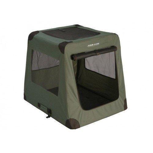 Hunde Transportbox Hundebox Autobox faltbar grün
