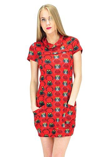 Goldkidlondon - Robe - Tunique - Manches Courtes - Femme Multicolore multicolore Multicolore - Rouge