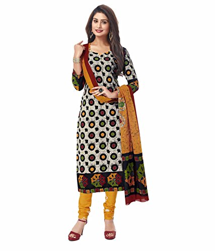 Miraan Women's Cotton Dress Material (San7028_Multi-Coloured_Free Size)