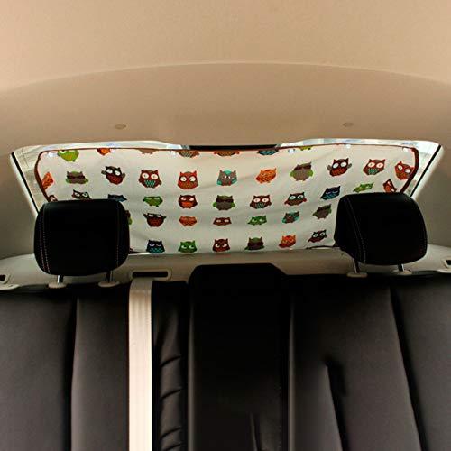 Lunette arrière voiture portable léger universel pare-soleil de voiture Ombre bloc arrière Isolation voiture Sunscreen Window Shade (Owl)