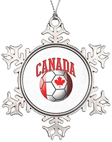 lake Ornament, Christmas Ornament, Decorations Personalized Ornament Flag of Canada Soccer Ball Snowflake Pewter Christmas Ornament Keepsake Gift, Christmas Decor ()