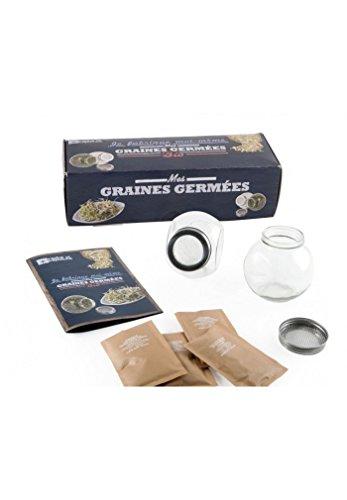 Radis et capucine - Coffret 2 germoirs verre avec 3 sachets de graines bio