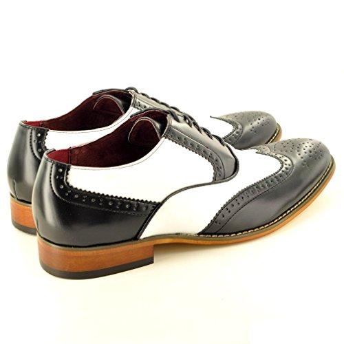 My Perfect Pair , Chaussures de ville à lacets pour homme Noir - Noir/blanc