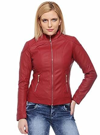 Fasnoya Women's Faux Leather Jacket
