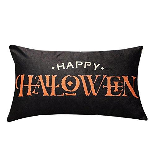 (VEMOW Heißer Halloween Party Dekoration Kissenbezüge Leinen Sofa Kürbis Geister Kissenbezug Home Decor 18
