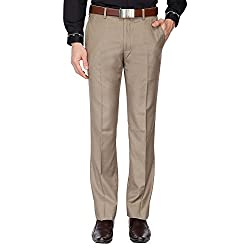 V Dot Mens Casual Trousers (8907670869277_VDTF517E07127_32W x 34L_Beige)