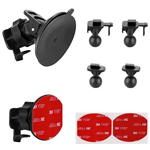 Saugnapfhalterung für YI Dashcam 3M Klebehalterung für Yi Dash-Kamera, mit 2 verschiedenen Drehgelenkpunkten (2 Stück), 2 3M doppelseitige Klebebänder, 2 Tücher (trocken und nass)