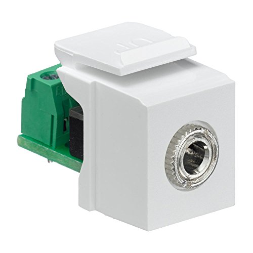 Leviton Quickport-snap (Leviton 40839-SWS QuickPort Snap-In Module with 3.5Mmm Stereo Jack, Female To Screw Terminal, White by Leviton)