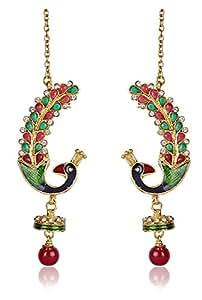 Shining Diva Traditional Jewellery Stylish Fancy Party Wear Jhumki / Jhumka Ear Cuff Earrings For Girls & Women
