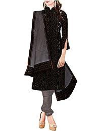 Unnati Silks Women Unstitched black-grey sambalpuri handloom cotton salwar suit dress material (pr4204)